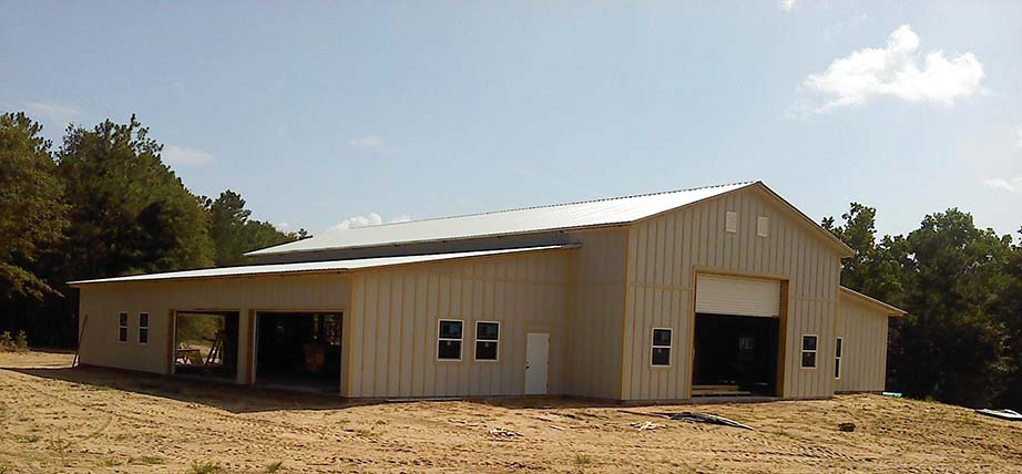 Ricky-Howell-Defuniak-Springs-Florida-completed-pole-barn
